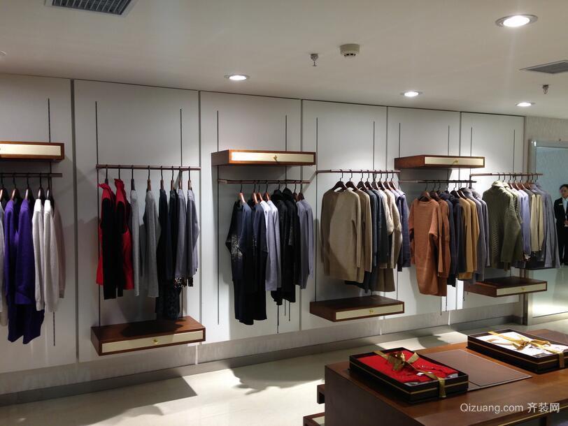 110平米大户型清新服装店背景墙装修效果图