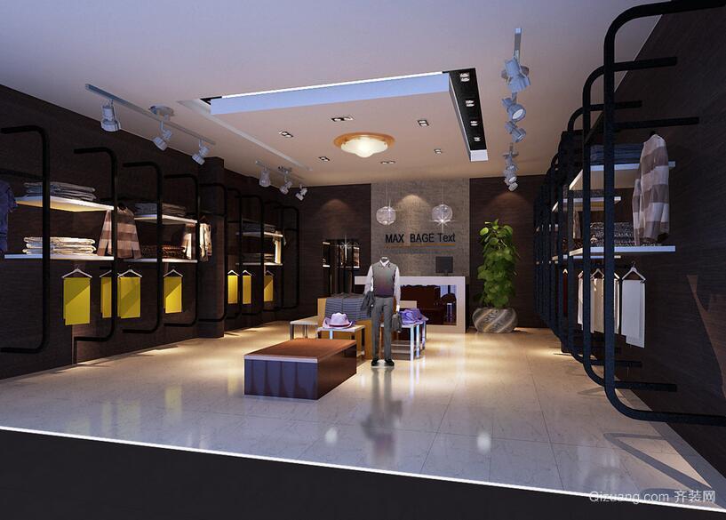 2016轻快的服装店室内设计装修效果图实例