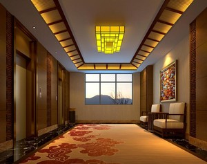 混搭风格140平米酒店吊顶装修效果图欣赏