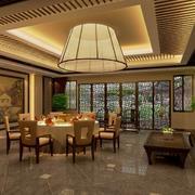 2016唯美的自然风格酒店室内吊顶装修效果图