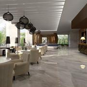 2016清新的唯美酒店室内吊顶设计装修效果图