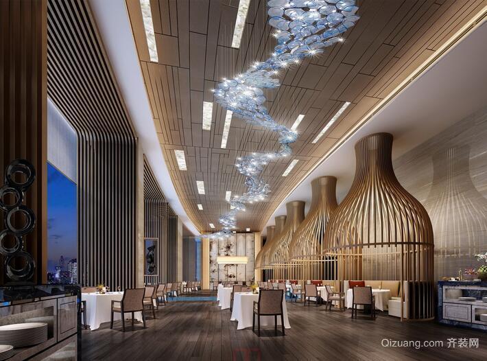 轻快的大户型酒店室内吊顶装修设计效果图
