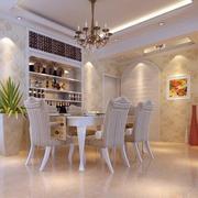 120平米宜家风格餐厅背景墙设计装修效果图