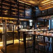 120平米自然餐厅室内吊顶装修设计效果图实例