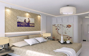 现代卧室整体效果图