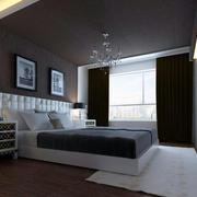 中冷色调卧室效果图