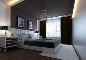 现代风格简约卧室装修效果图