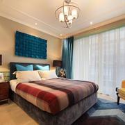 卧室唯美水晶吊灯装修效果图