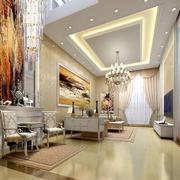 时尚欧式风格客厅装修效果图
