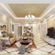 欧式风格华丽客厅效果图