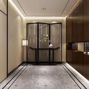 中式玄关走廊效果图