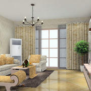 现代田园风格客厅装修效果图