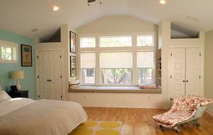 现代简约时尚卧室飘窗装修效果图