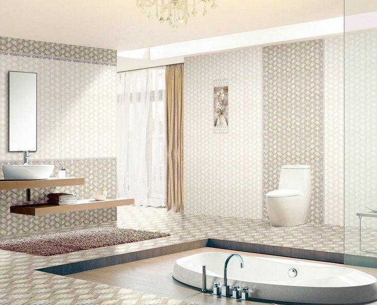 别墅型现代简约卫生间装修效果图