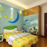 儿童房背景墙装修效果图