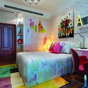 现代简约充满童趣的儿童房装修效果图