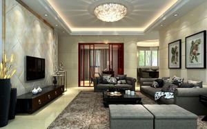 200平米别墅现代风格客厅吊顶装修效果图