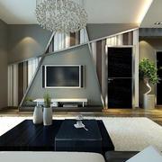 后现代风格别墅客厅装修效果图