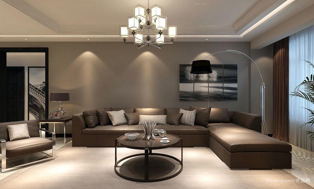 都市风格简约时尚客厅装修效果图
