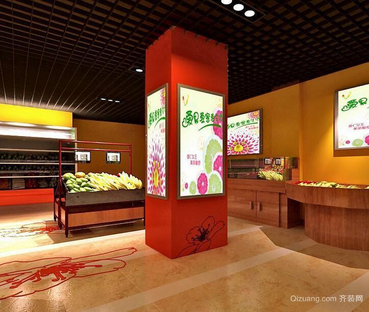 2016混搭风格唯美的水果店室内装修效果图