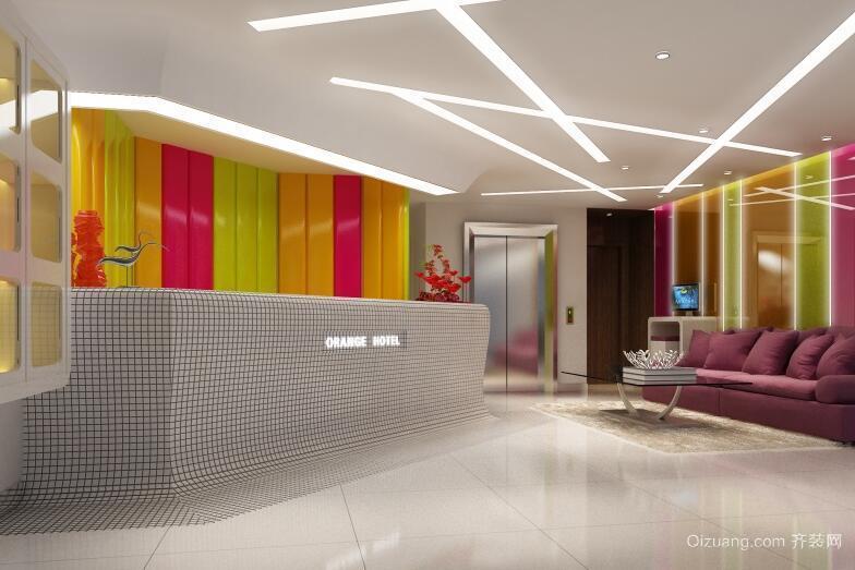 120平米都市宾馆大厅室内装修效果图欣赏