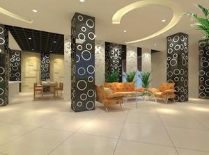 乡村风格宾馆室内装修设计效果图实例
