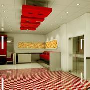 朴素的大户型宾馆室内吊顶装修效果图鉴赏