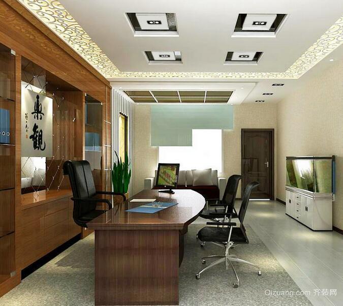 30平米经典的办公室室内装修效果图欣赏