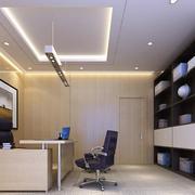 60平米现代唯美的办公室背景墙装修效果图