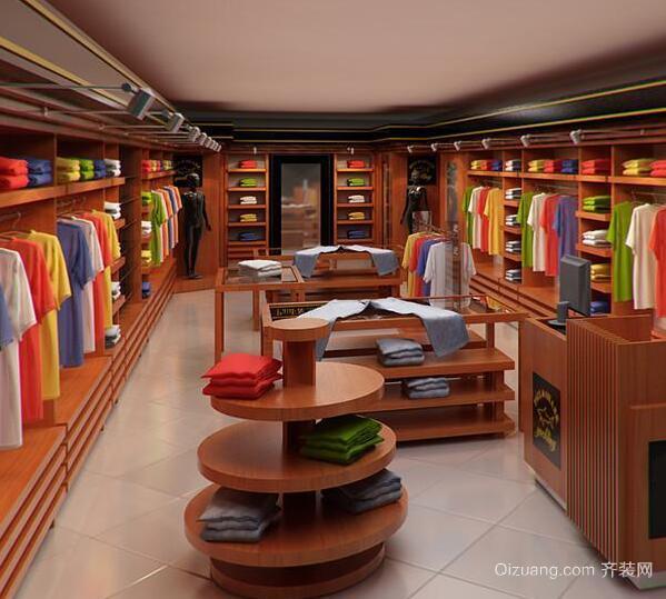 精美的30平米小服装店室内装修效果图