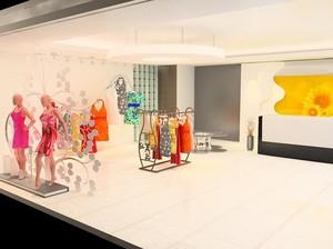 120平米都市经典服装店背景墙装修效果图