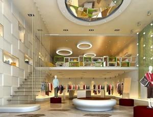 140平米时尚的大服装店室内楼梯装修效果图