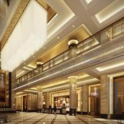 120平米酒店室内背景墙设计装修效果图