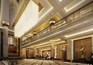 120平米酒店室內背景墻設計裝修效果圖