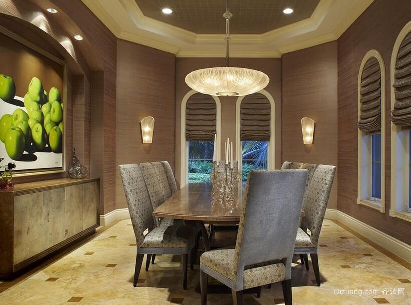 200平米大户型经典的现代酒店背景墙装修效果图