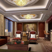 别墅型美式客厅效果图