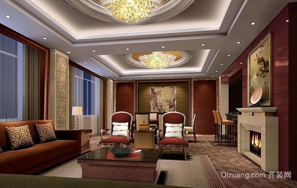 古典美式风格精致客厅装修效果图