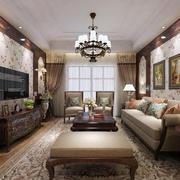 美式典雅客厅装修玄关图
