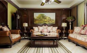 新古典主义美式风格客厅装修效果图
