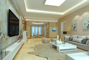 大户型现代时尚混搭客厅装修效果图赏析