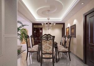 别墅美式风格餐厅装修效果图