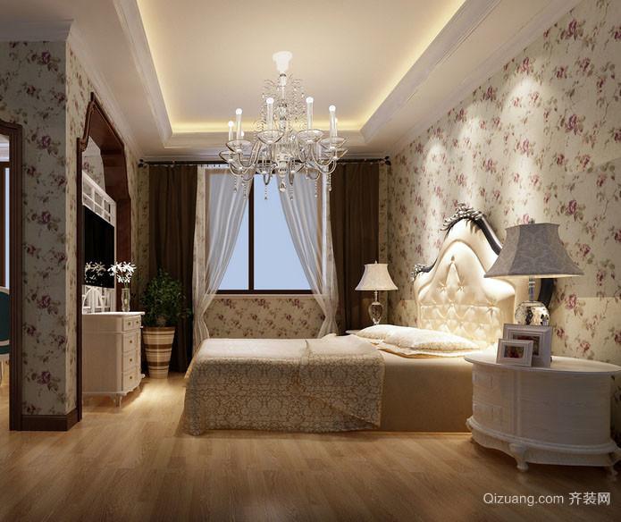 三居室现代田园风格卧室装修效果图