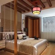 中式风格精致卧室吊顶装修效果图