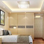现代简约卧室吊灯装修效果图