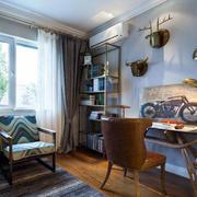 10平米现代美式风格书房装修效果图