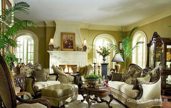 新古典欧式典雅高贵客厅装修效果图
