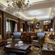 美式古典客厅整体效果图