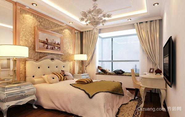 现代风格简约时尚卧室飘窗装修效果图