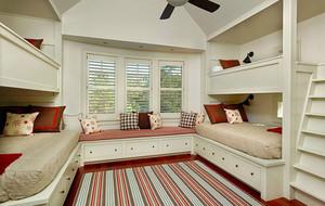 现代简约时尚自然卧室飘窗装修效果图