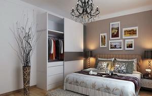 时尚简约卧室背景墙效果图